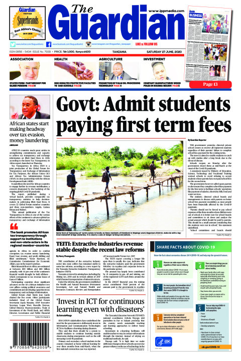 Govt: Admit students paying first term fees | The Guardian