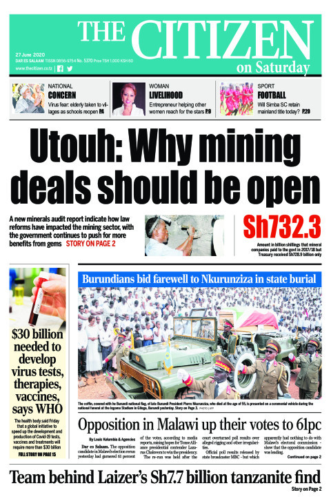 Utouh: Why mining deals should be open | The Citizen