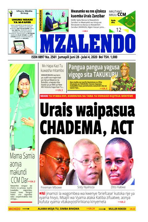 URAIS WAIPASUA CHADEMA,ACT | Mzalendo
