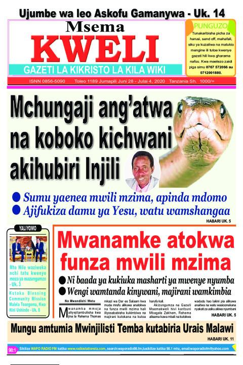 Mchungaji ang'atwa na koboko kichwani akihubiri Injili. | MSEMA KWELI