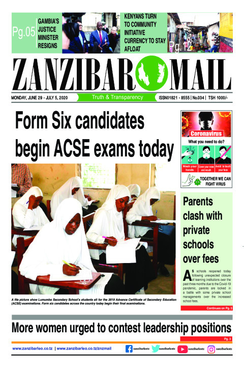 Form Six candidates begin ACSE exams today | ZANZIBAR MAIL