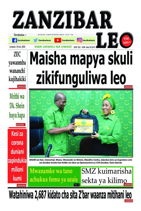 Maisha mapya skuli zikifunguliwa leo | ZANZIBAR LEO
