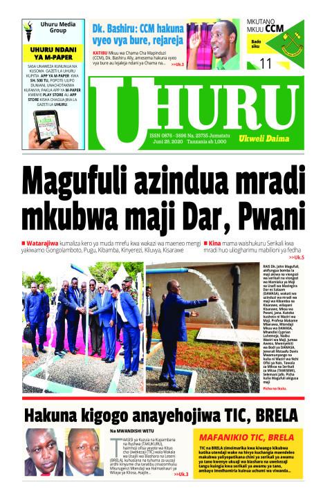 MAGUFULI AZINDUA MRADI MKUBWAMAJI DAR, PWANI | Uhuru