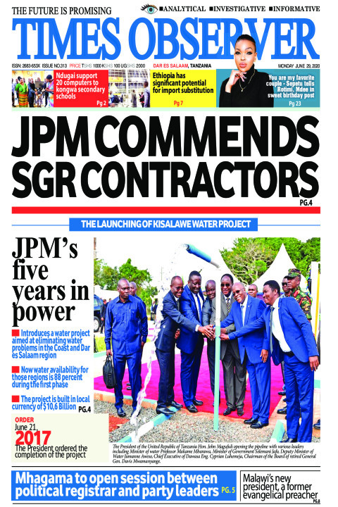 JPM COMMENDS SGR CONTRACTORS | Times Observer