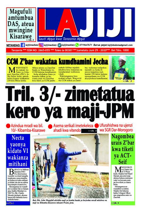 Tril. 3 zimetatua kero ya maji-JPM | The ECHO