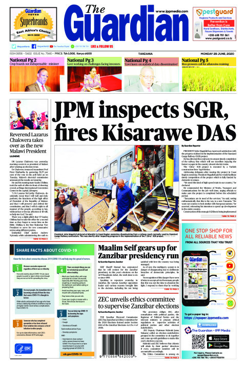 JPM inspects SGR, fires Kisarawe DAS | The Guardian