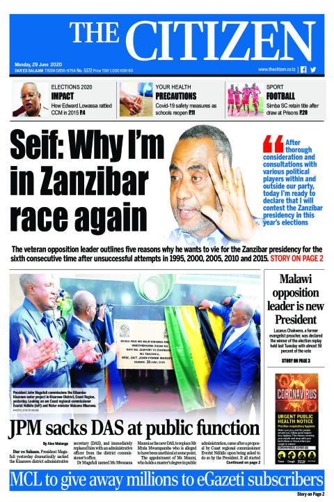 Seif: Why I'm in Zanzibar race again | The Citizen