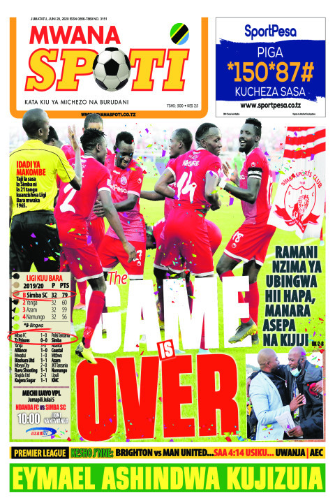 THE GAME IS OVER | Mwanaspoti