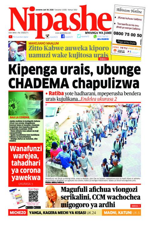 Kipenga urais, ubunge Chadema chapulizwa | Nipashe