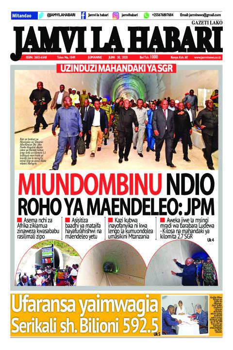MIUNDOMBINU NDIO ROHO YA MAENDELEO: JPM | Jamvi La Habari