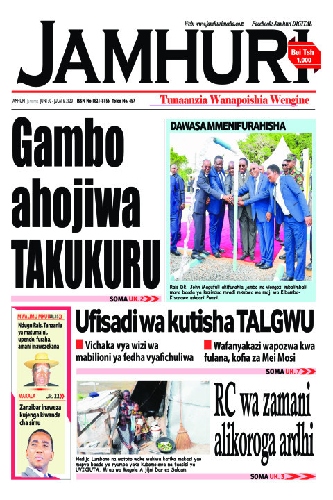 Gambo ahojiwa TAKUKURU | Jamhuri