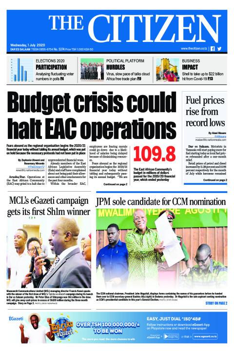Budget crisis could halt EAC operations | The Citizen