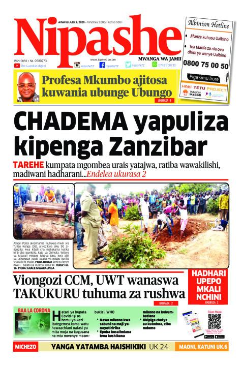 CHADEMA yapuliza kipenga Zanzibar | Nipashe