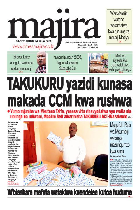 TAKUKURU yazidi kunasa makada CCM kwa rushwa | MAJIRA