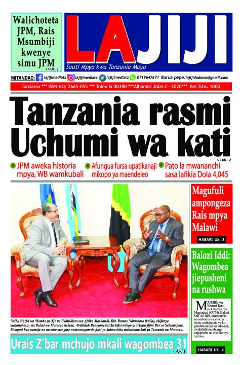 Tanzania rasmi Uchumi wa kati | LaJiji