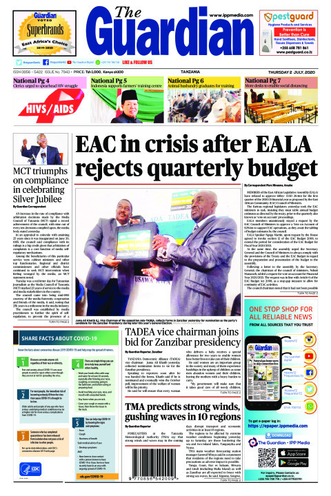 EAC in crisis after EALA rejects quarterly budget