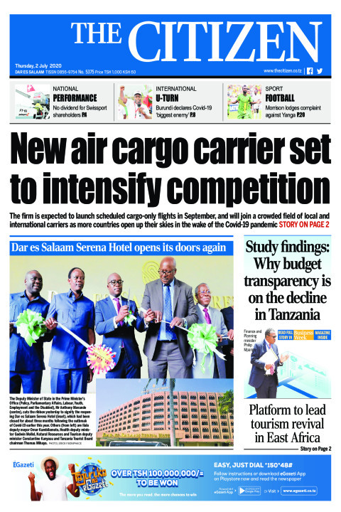 New air cargo carrier set to intensify competition | The Citizen