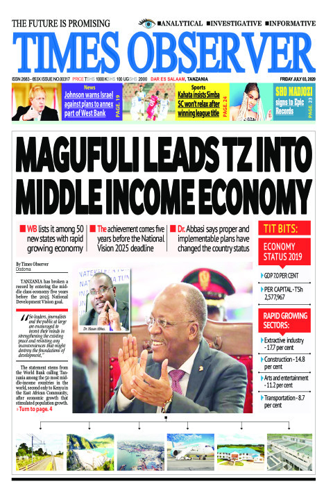 MAGUFULI LEADS TZ INTO MIDDLE INCOME ECONOMY | Times Observer