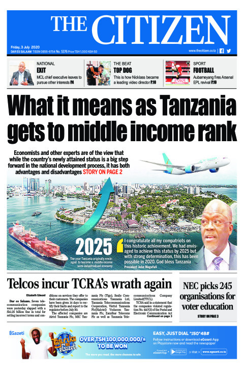 What it means as Tanzania gets to middle income rank | The Citizen