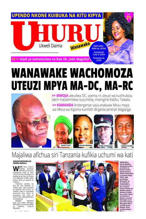 WANAWAKE WACHOMOZA UTEUZI MPYA MA-DC, MA-RC | Uhuru