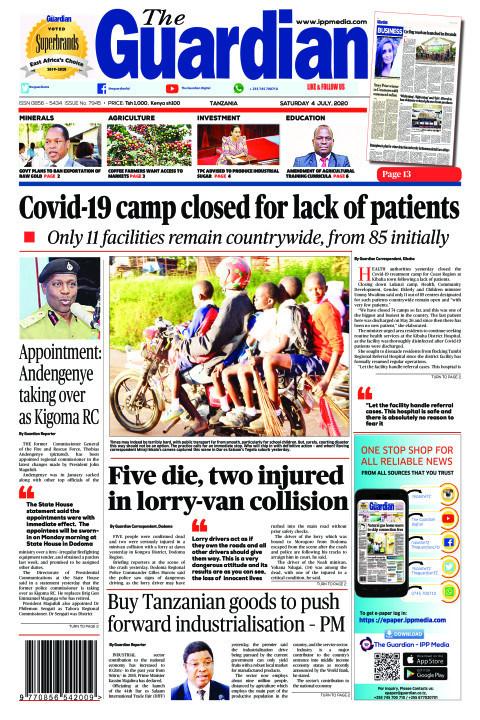 Covid-19 camp closed for lack of patients | The Guardian