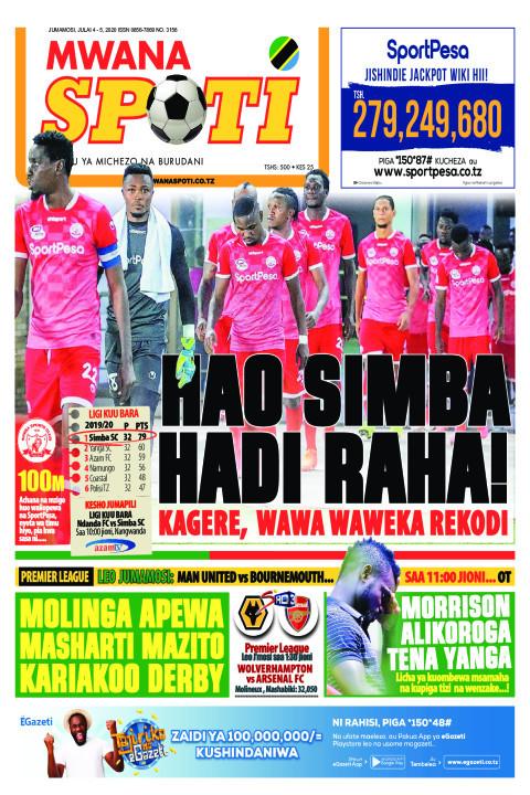 HAO SIMBA HADI RAHA | Mwanaspoti