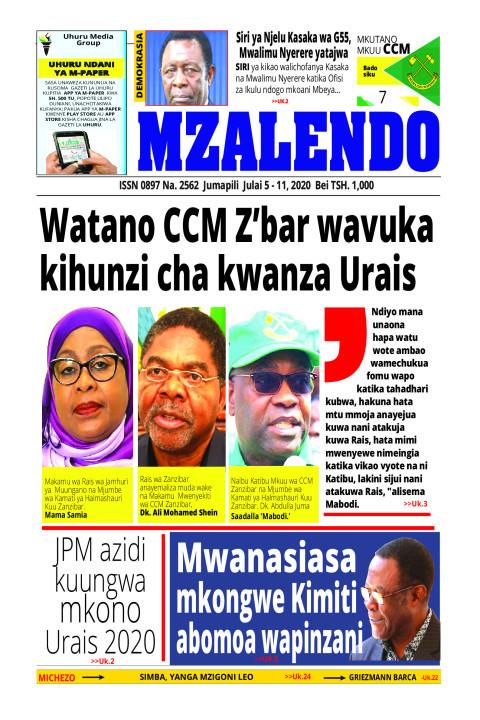 Watano CCM Z'bar wavuka kihunzi cha kwanza Urais | Mzalendo