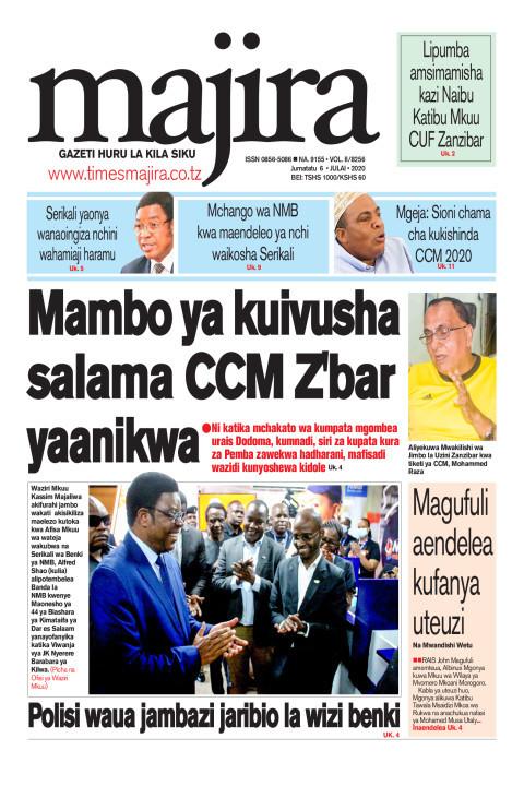 Mambo ya kuivusha salama CCM Z'bar yaanikwa | MAJIRA