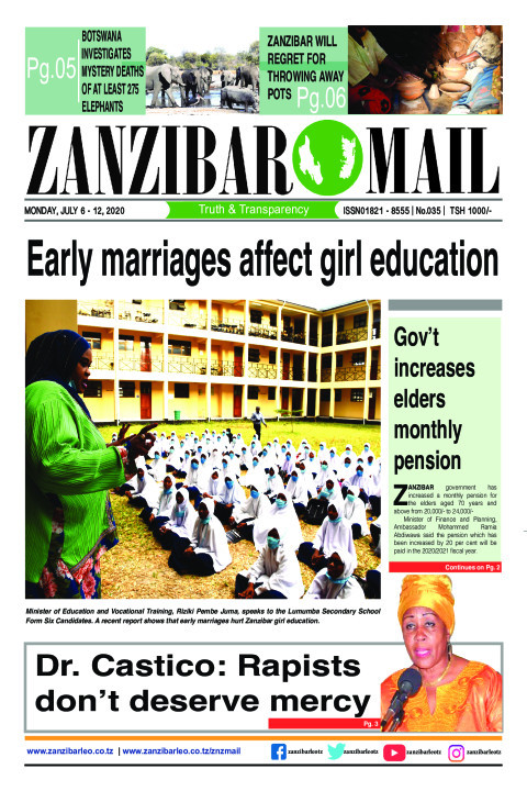 Early marriages affect girl education | ZANZIBAR MAIL