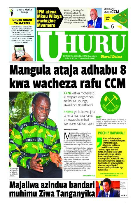 Mangula ataja adhabu 8 kwa wacheza rafu CCM | Uhuru