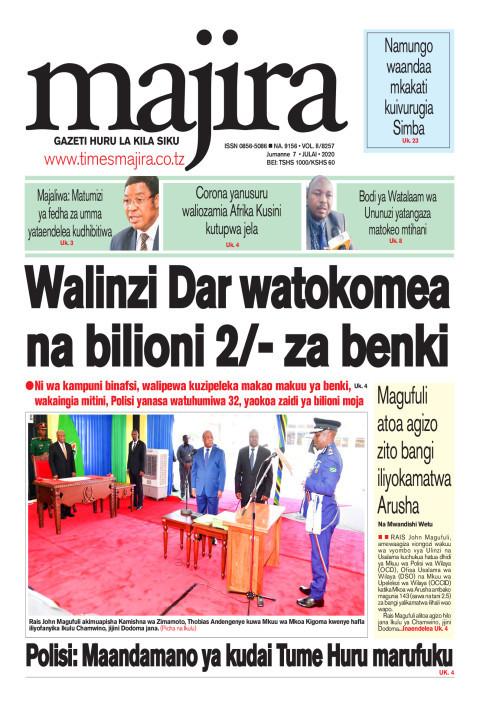 Walinzi Dar watokomea na bilioni 2/- za benki | MAJIRA