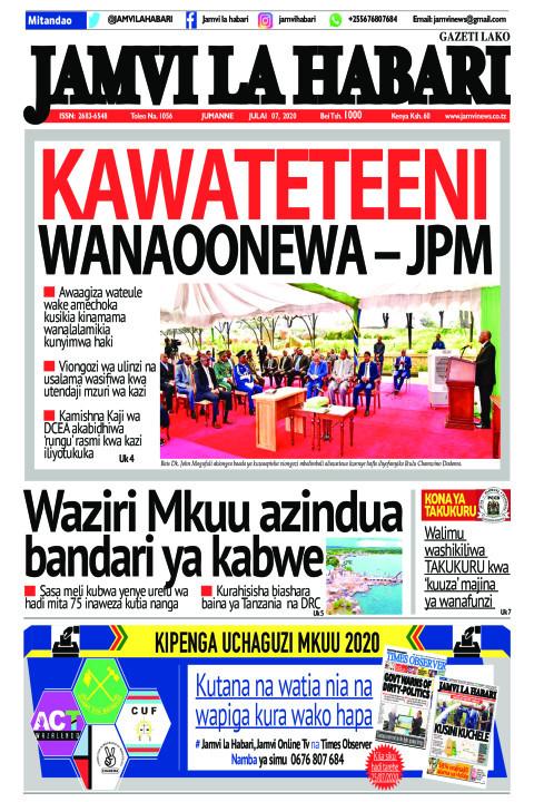 Kawateteeni wanaoonewa – JPM | Jamvi La Habari