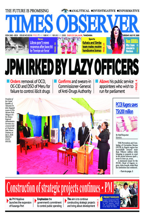 JPM IRKED BY LAZY OFFICERS | Times Observer