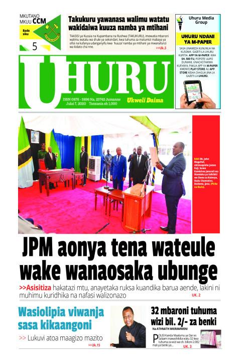 JPM AONYA TENA WATEULE WAKE WANAOSAKA UBUNGE | Uhuru