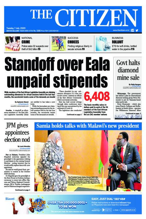 Standoff over Eala unpaid stipends | The Citizen