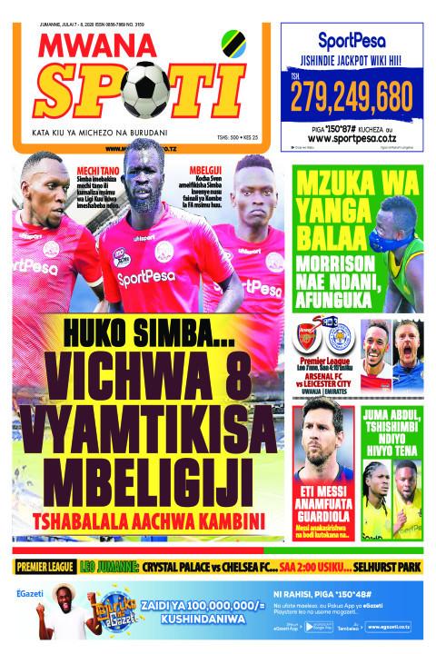 HUKO SIMBA VICHWA 8 VYAMTIKISA MBELIGIJI | Mwanaspoti