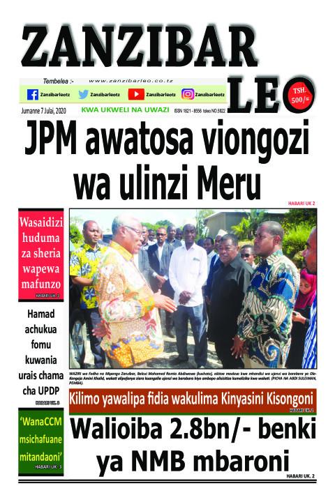 JPM awatosa viongozi wa ulinzi Meru | ZANZIBAR LEO