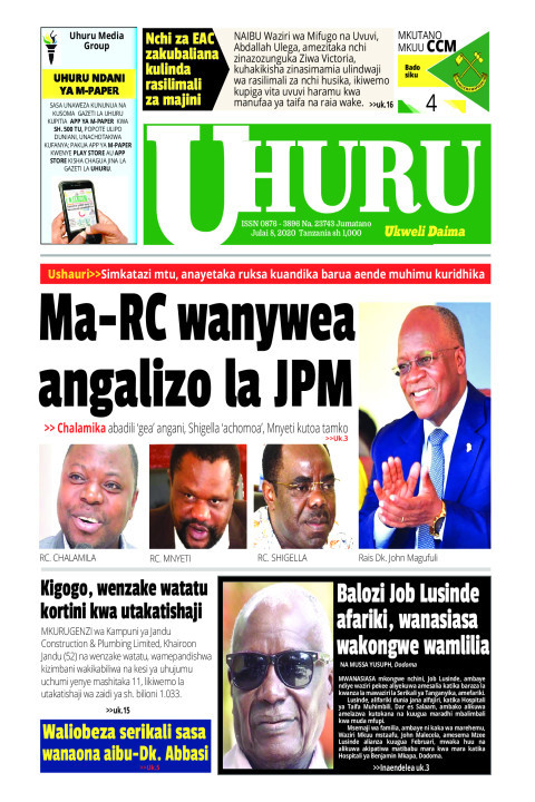 MA-RC WANYWEA AGIZO LA JPM | Uhuru
