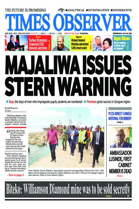 MAJALIWA ISSUES STERN WARNING | Times Observer