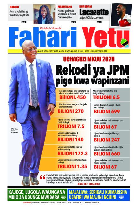 Rekodi ya JPM pigo kwa wapinzani | Fahari Yetu