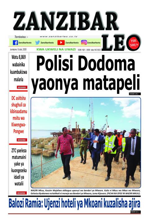 Polisi Dodoma yaonya matapeli | ZANZIBAR LEO