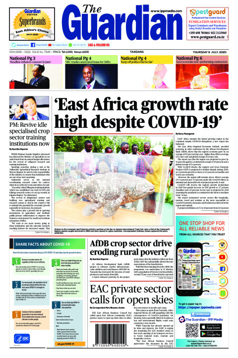 'East Africa growth rate high despite Covid-19'