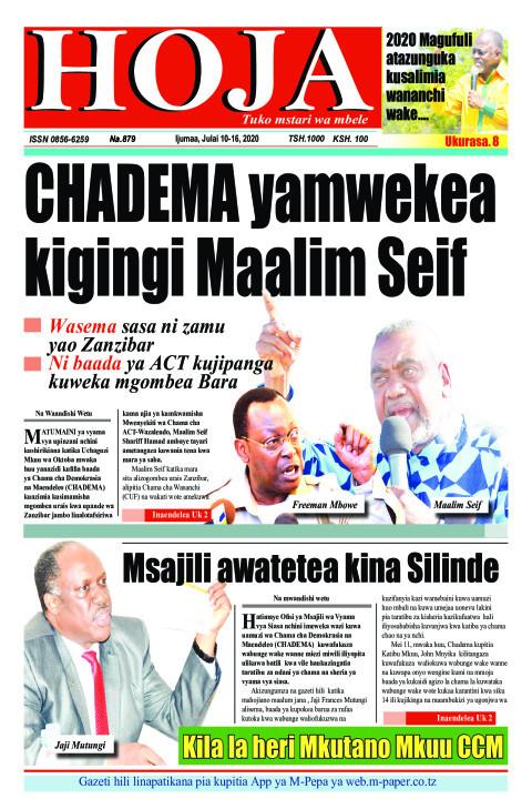 CHADEMA yamwekea kigingi Maalim Seif | HOJA
