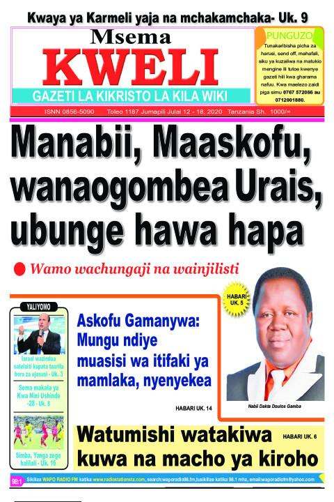 Manabii, Maaskofu wanaogombea Urais, Ubunge hawa hapa | MSEMA KWELI
