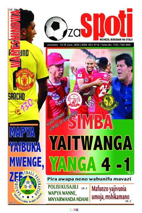 Simba yaitwanga Yanga | ZA SPOTI