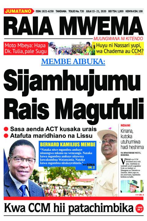 Sijamhujumu Rais Magufuli | Raia Mwema