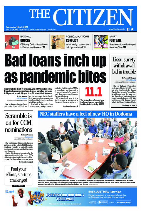 Bad loans inch up as pandemic bites | The Citizen
