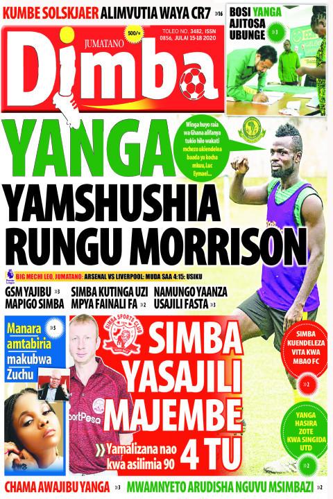 YANGA YAMSHUSHIA AMSHUSHIA RUNGU MORRISON | DIMBA