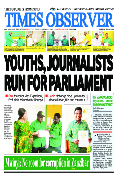 YOUTHS, JOURNALISTS RUN FOR PARLIAMENT | Times Observer