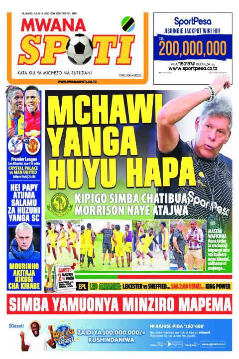 MCHAWI YANGA HUYU HAPA | Mwanaspoti